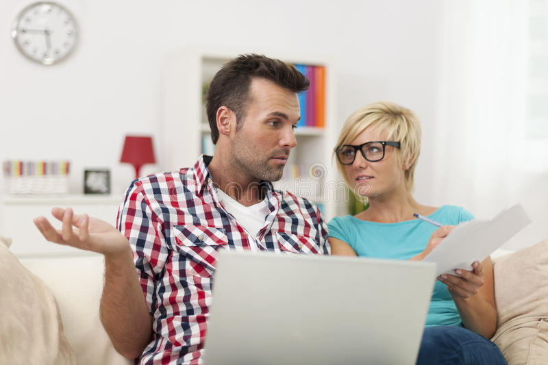Download Couple Paying Bills Royalty Free Stock Images - Image: 37801269