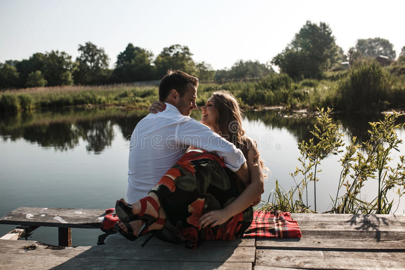Couple on pean royalty free stock photography