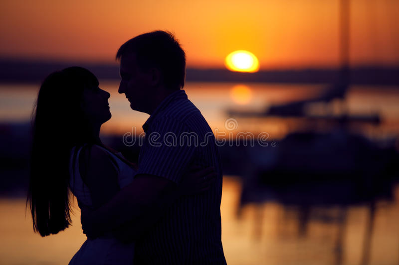 Download Couple on the peir stock photo. Image of outdoors, evening - 26748592