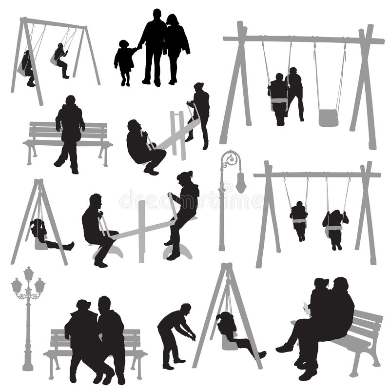 Download Couple People In Park Vector Stock Vector - Image: 8121617