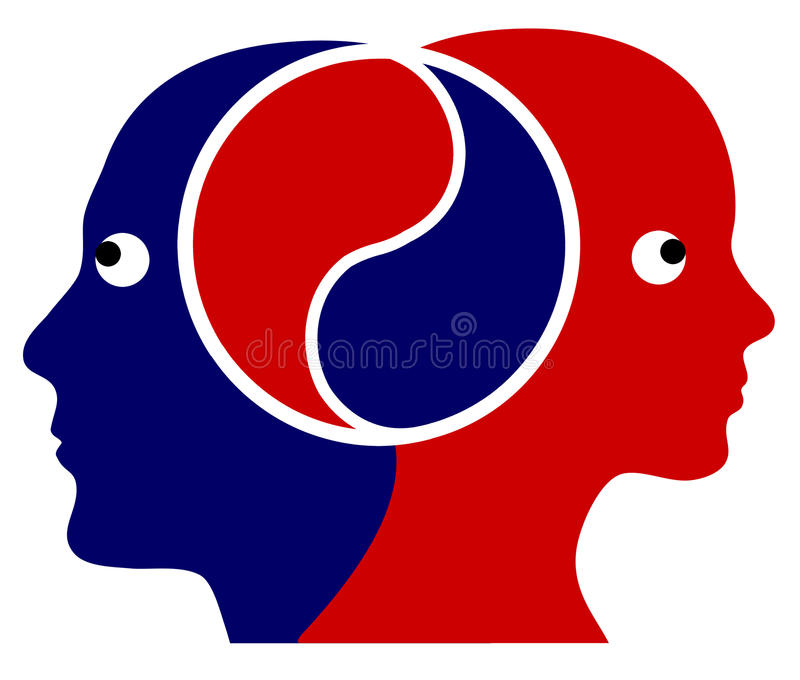 Couple in perfect Harmony vector illustration
