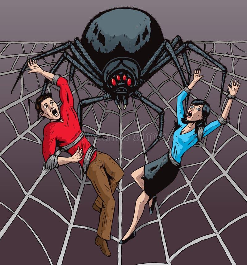 Couple in peril vector illustration