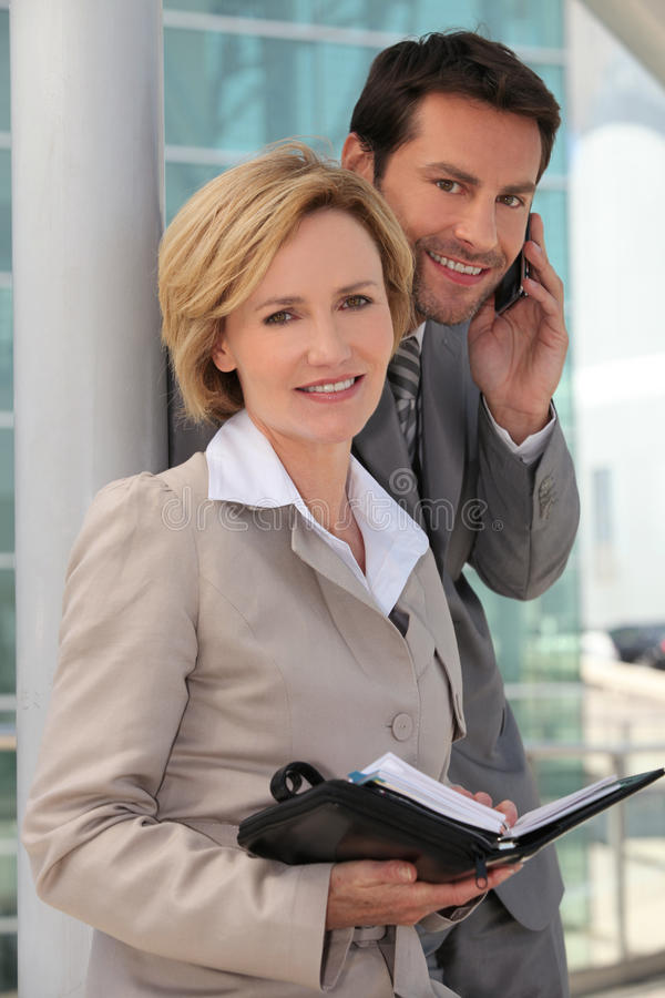 Download Couple With A Personal Organizer Stock Photo - Image: 21963726