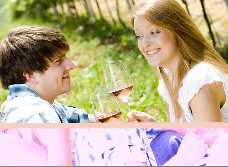 Download Couple At A Picnic Stock Image - Image: 18120361