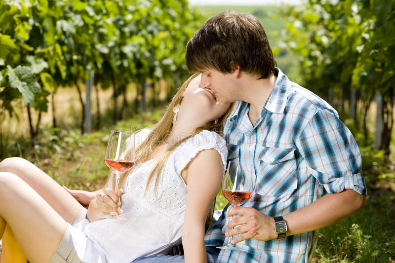 Download Couple at a picnic stock image. Image of outside, exteriors - 25166295