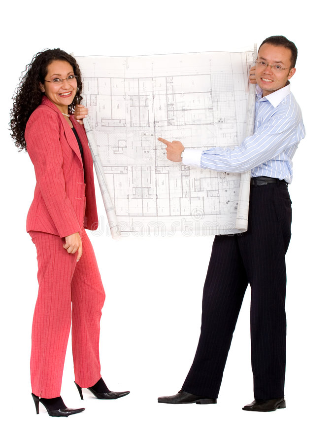 Download Couple Planning Their House Stock Photo - Image: 2420484