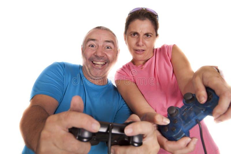 Couple play royalty free stock photo