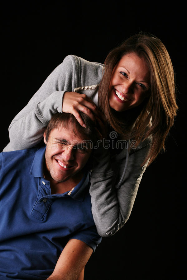 Couple playing stock photography