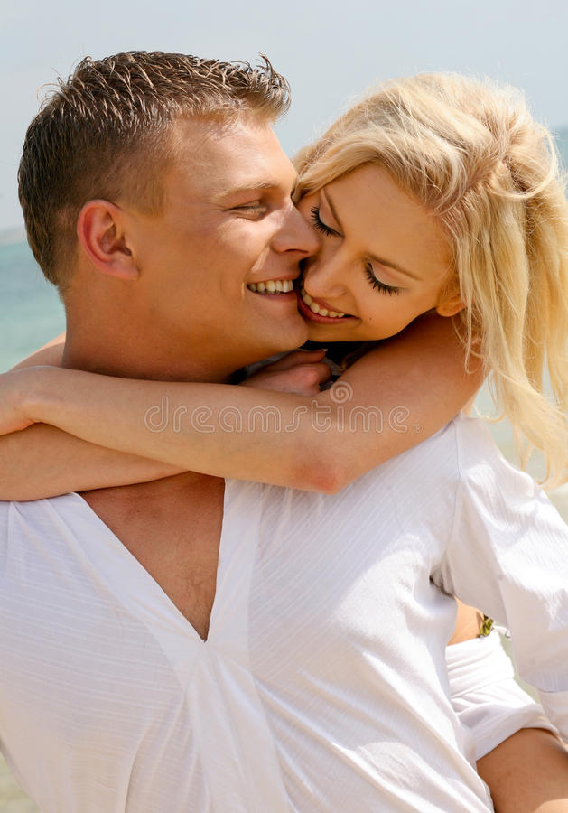 Couple playing around royalty free stock photo