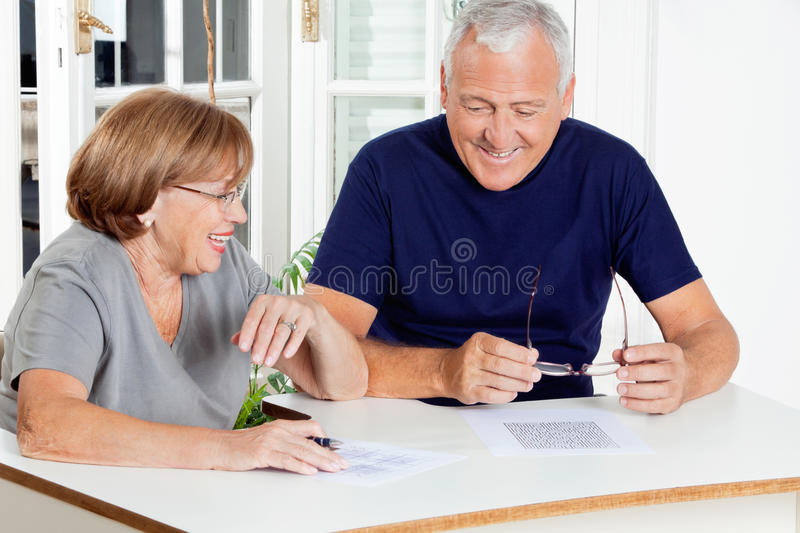 Couple Playing Leisure Games royalty free stock photography