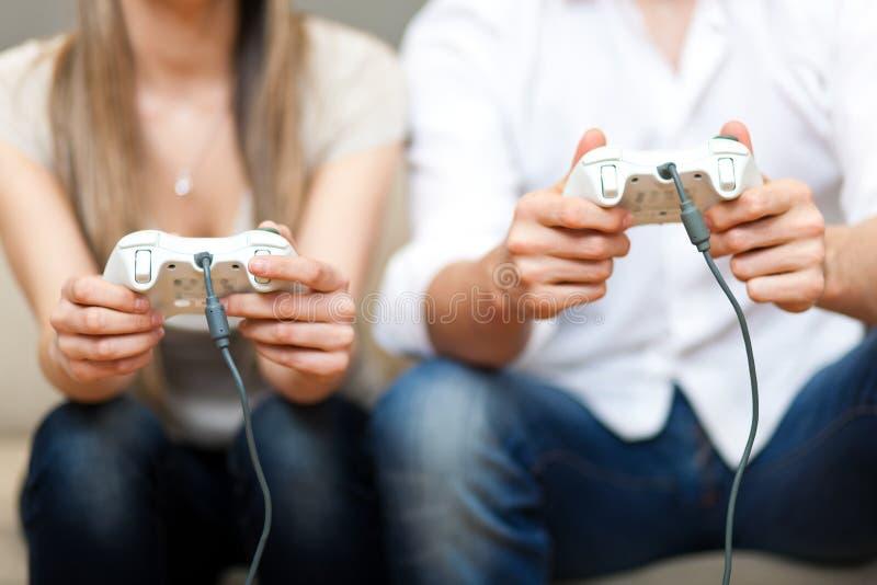Download Playing video games stock image. Image of enjoyment, sofa - 30287525