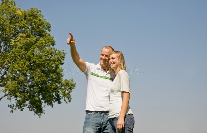 Download Couple Pointing Royalty Free Stock Photography - Image: 7119977