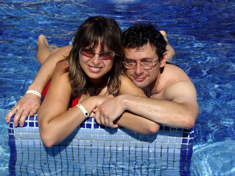 Download Couple in the pool stock image. Image of family, pool, living - 61839