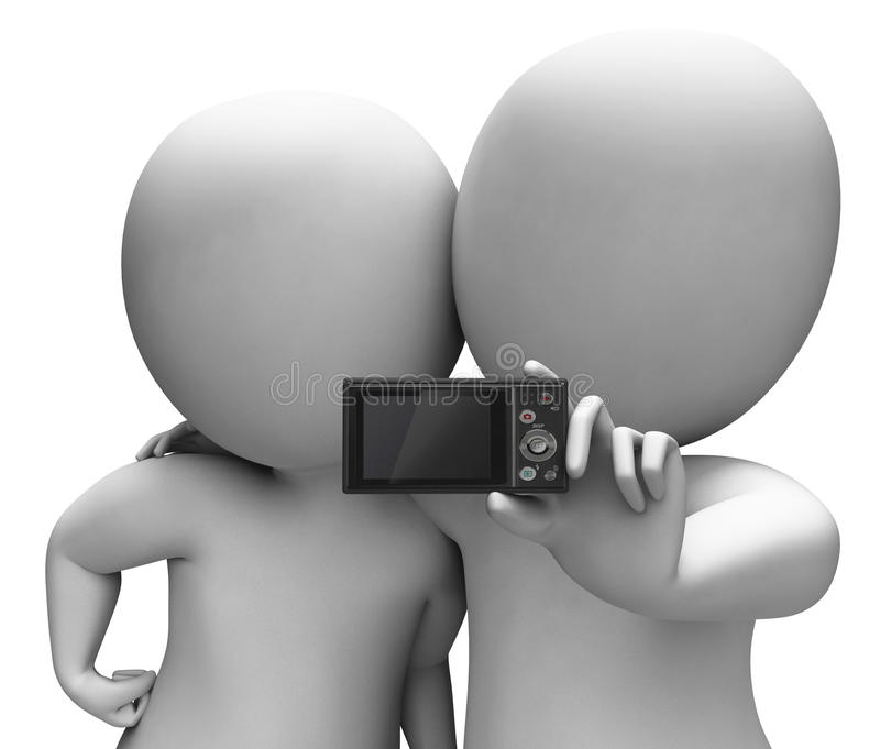 Couple Portrait Photo Shows Camera Self Photo Snapshot Stock Photography