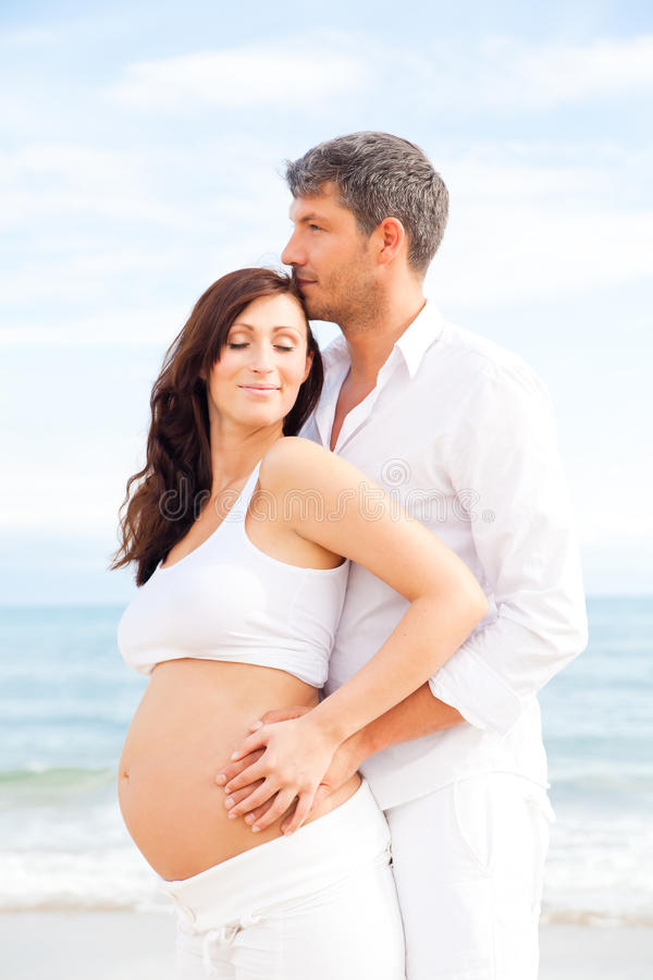 Download Couple pregnancy stock image. Image of girl, love, expecting - 16392323