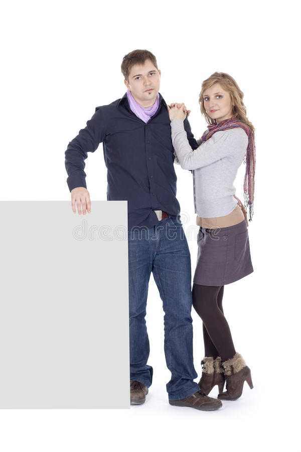 Download Couple With A Presentation Paper Stock Photo - Image: 23477714