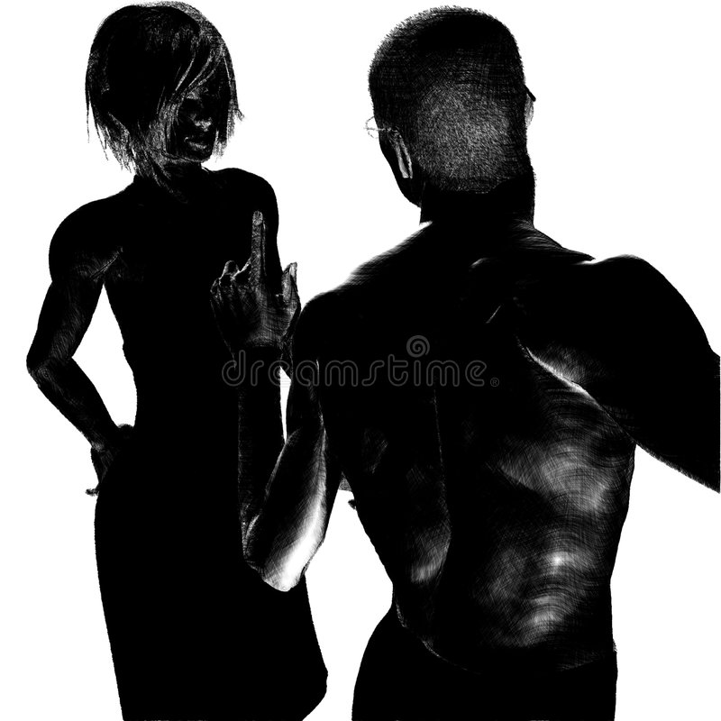 COUPLE WITH PROBLEMS royalty free stock photo