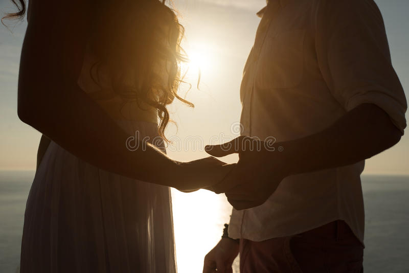 Couple proposal stock images
