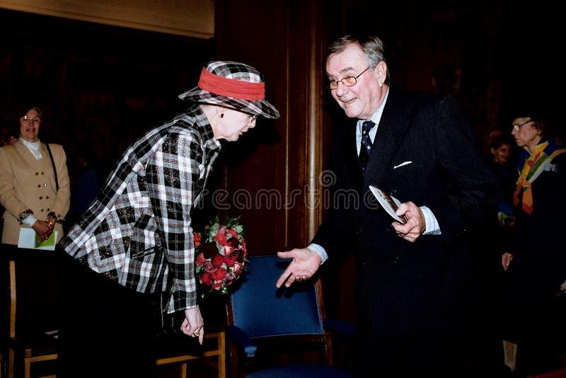 COUPLE_QUEEN REAL DANÉS MARGRETHE_PRINCE HENRIK fotografía de archivo