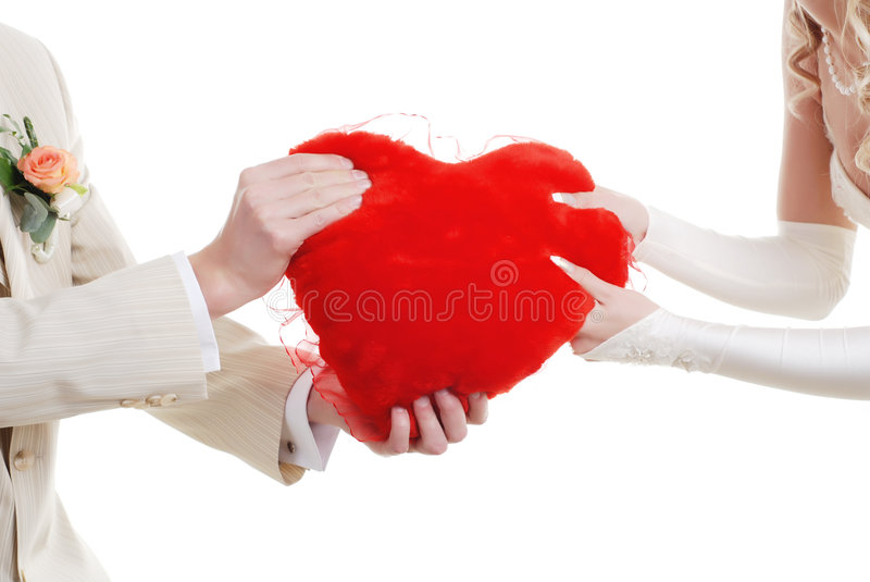 Download Couple with red heart stock photo. Image of proposition - 7593078