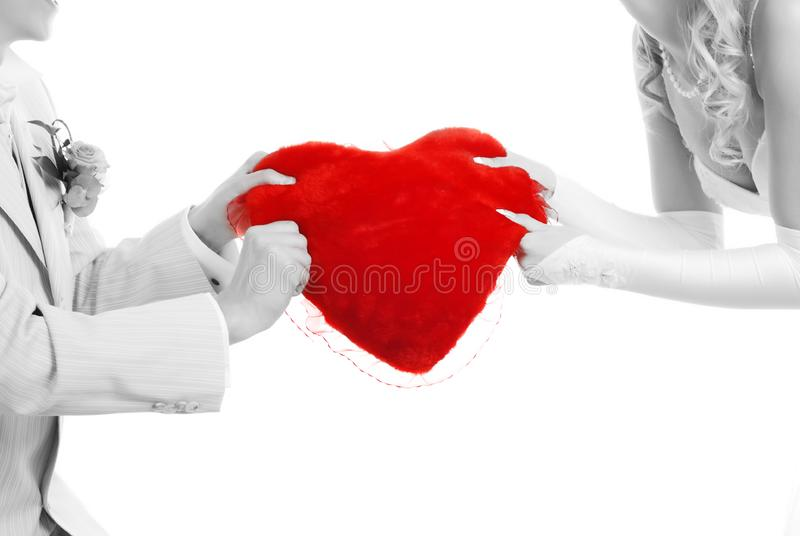 Download Couple with red heart stock image. Image of proposition - 7988033