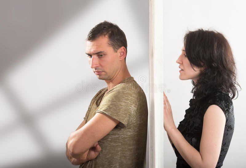 Couple relationships - conflict concept stock images