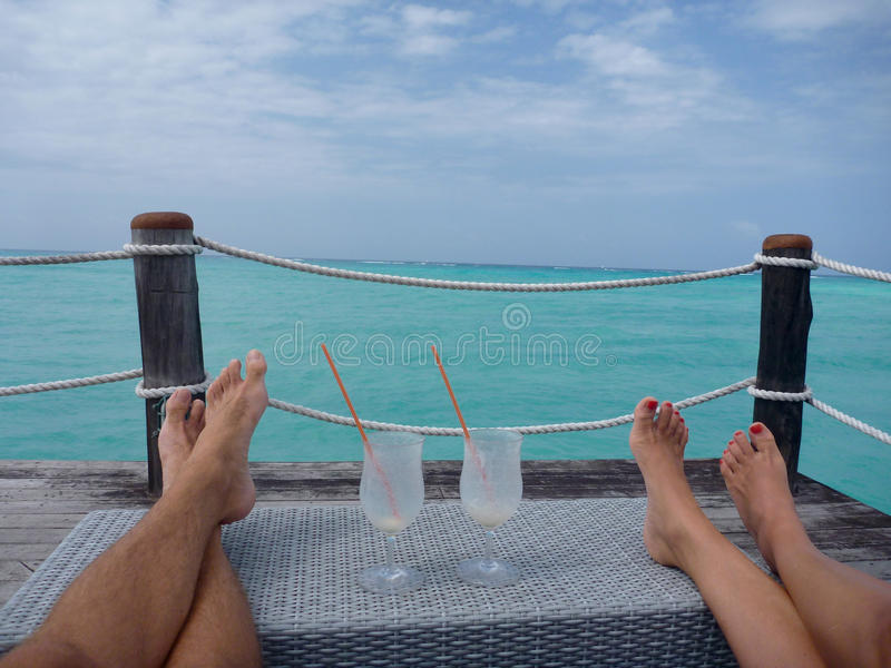 Couple relax stock photo