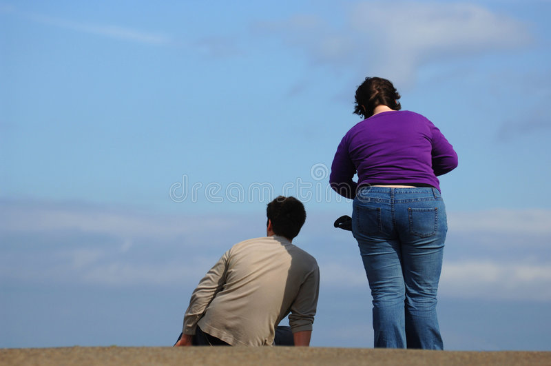 Couple Relaxation royalty free stock photography