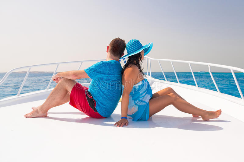 Download Couple Relaxing On The Cruise Stock Image - Image: 30628755