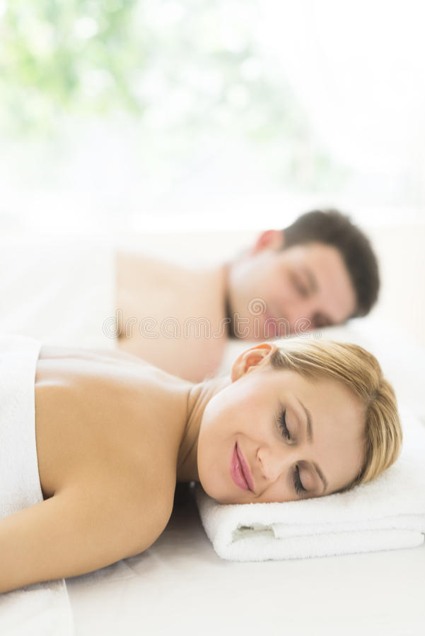 Download Couple Relaxing At Health Spa Stock Photo - Image: 32429780