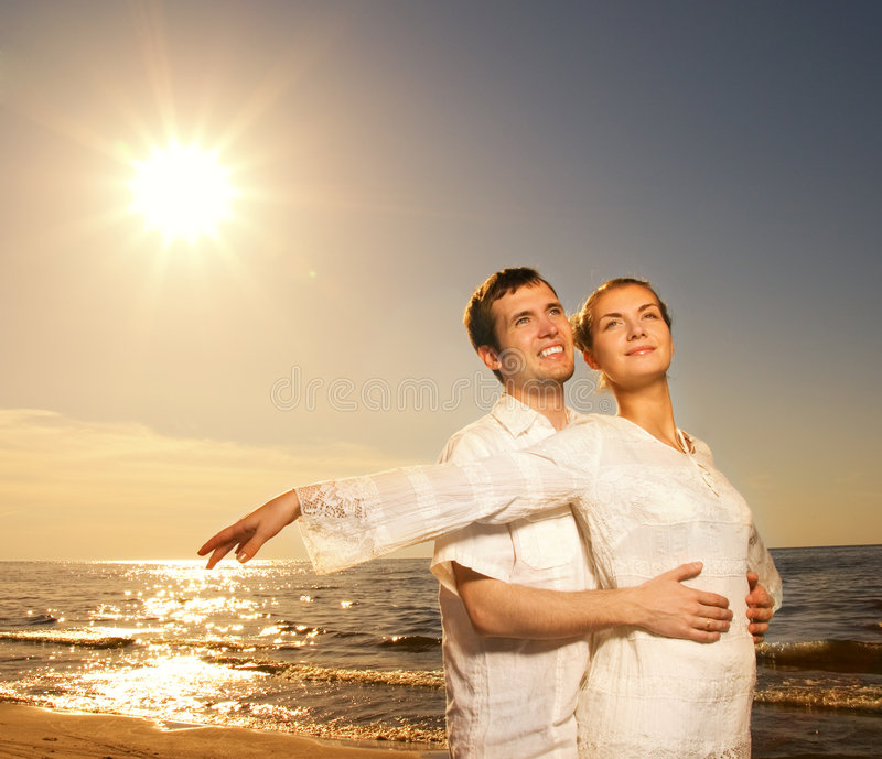 Download Couple Relaxing Near The Sea Stock Photo - Image: 5349650
