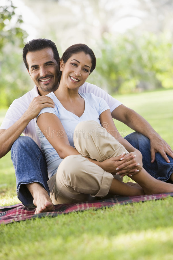 Download Couple Relaxing In Park Together Stock Photo - Image: 5208508