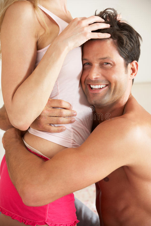 Download Couple Relaxing Together In Bed Stock Image - Image: 26616137