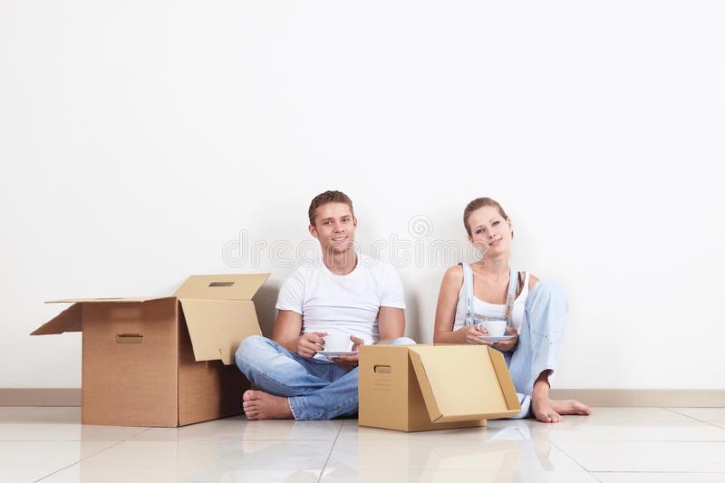 Couple relocated stock photos