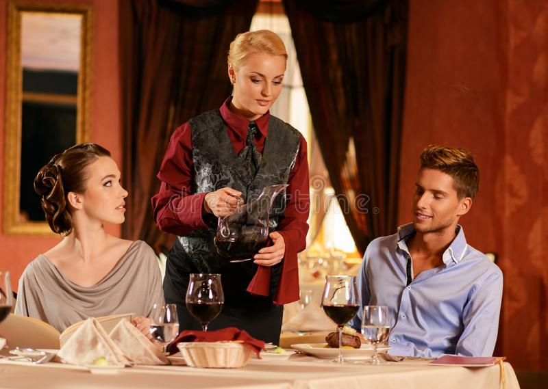 Download Couple in a restaurant stock photo. Image of male, meal - 36530748