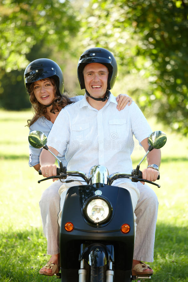 Download Couple riding stock photo. Image of motorcycle, motorbike - 21959474