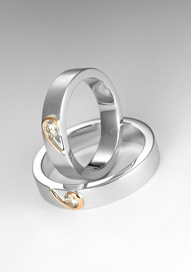 Couple ring. Elegant jewellery shot on couple ring royalty free stock photo