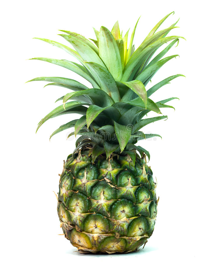 couple ripe pineapple on white background healthy pineapple fruit food isolated royalty free stock photos