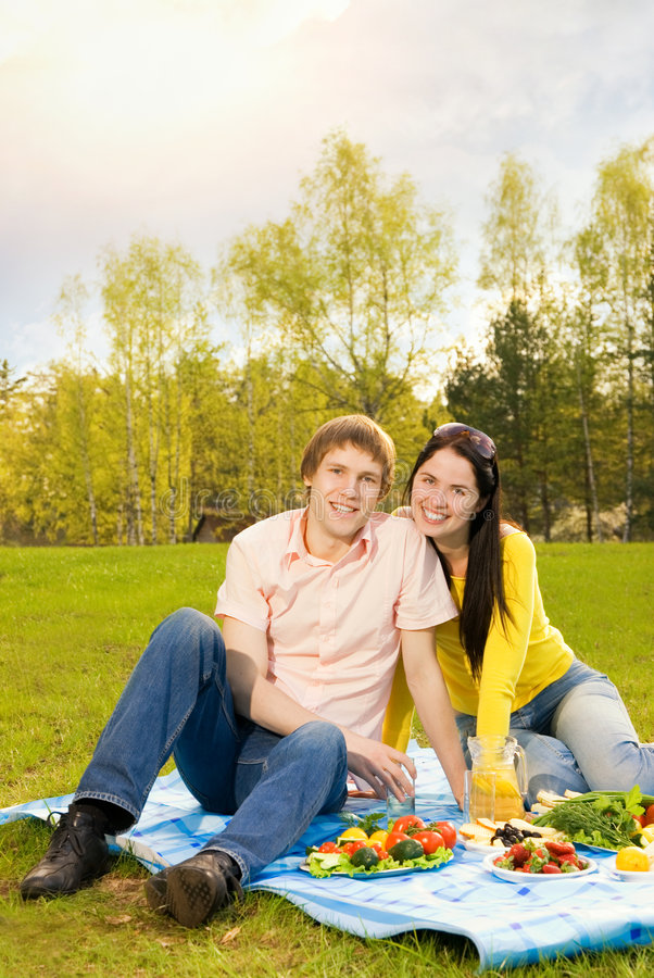 Download Couple at romantic picnic stock image. Image of happiness - 5244913