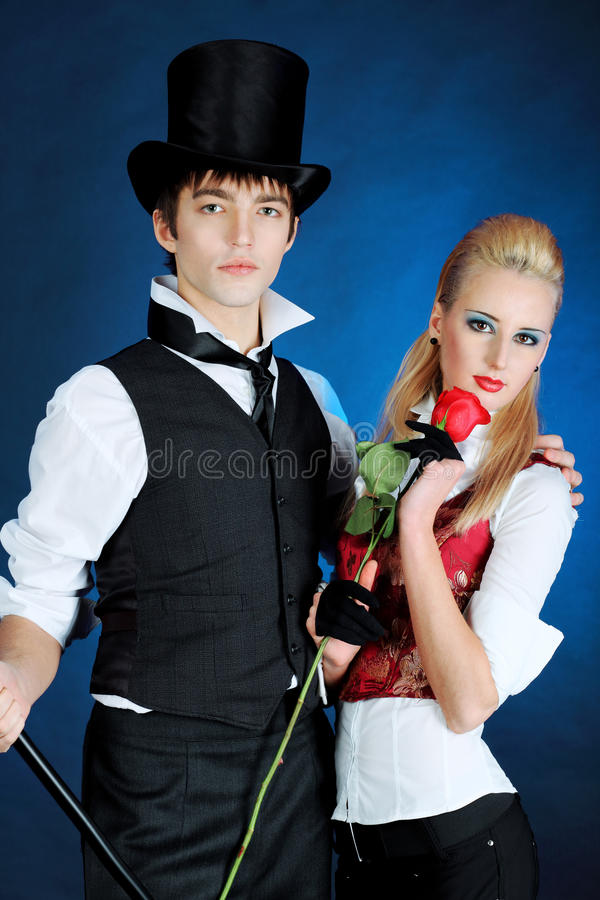 Couple with a rose