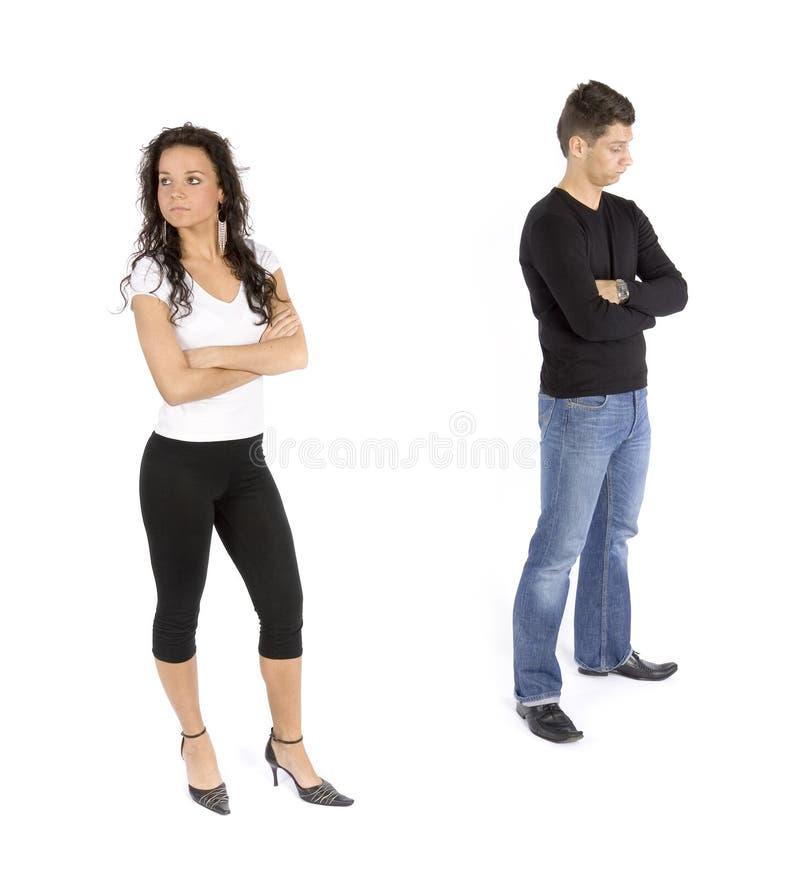 Couple S Quarrel Royalty Free Stock Photo