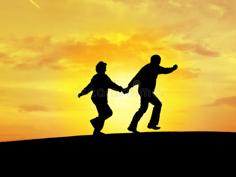 Download Couple's silhouette N3 stock photo. Image of reaching, black - 513982