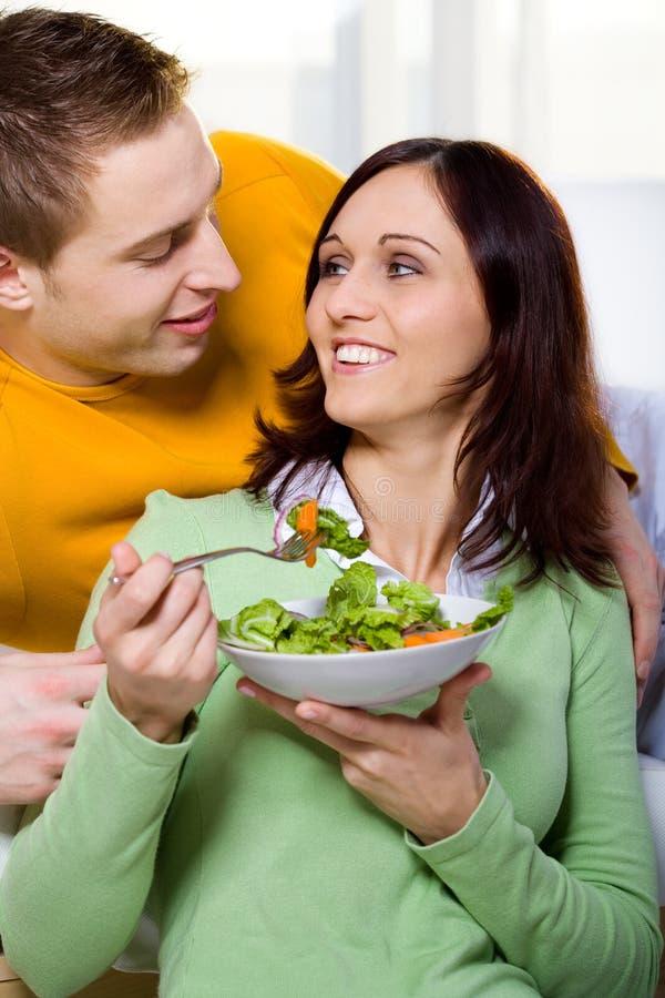 Download Couple with salad stock image. Image of modern, human - 10459767