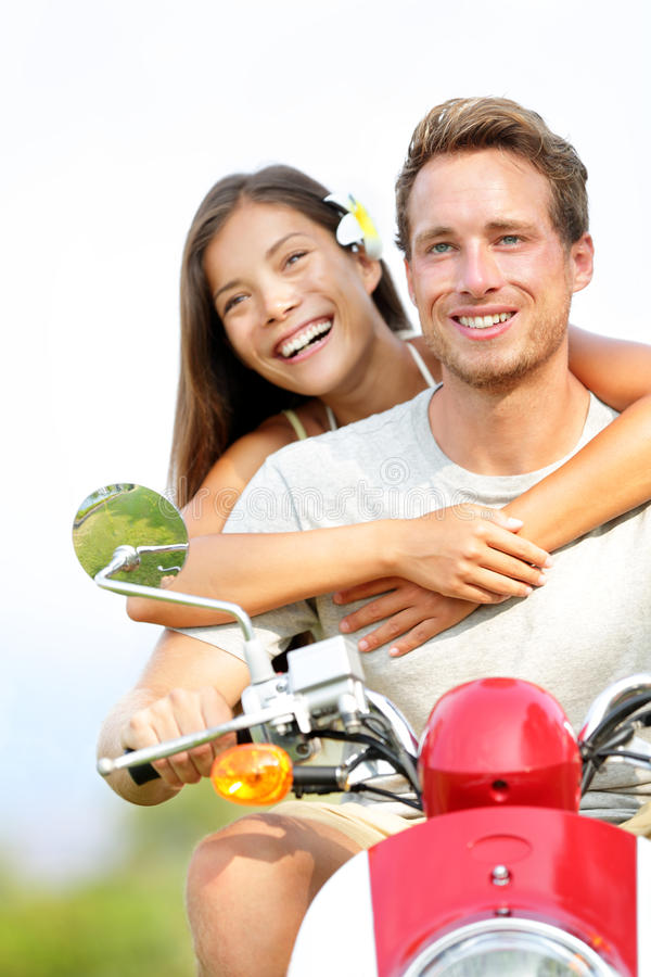 Download Couple on scooter in love stock photo. Image of girlfriend - 28773130