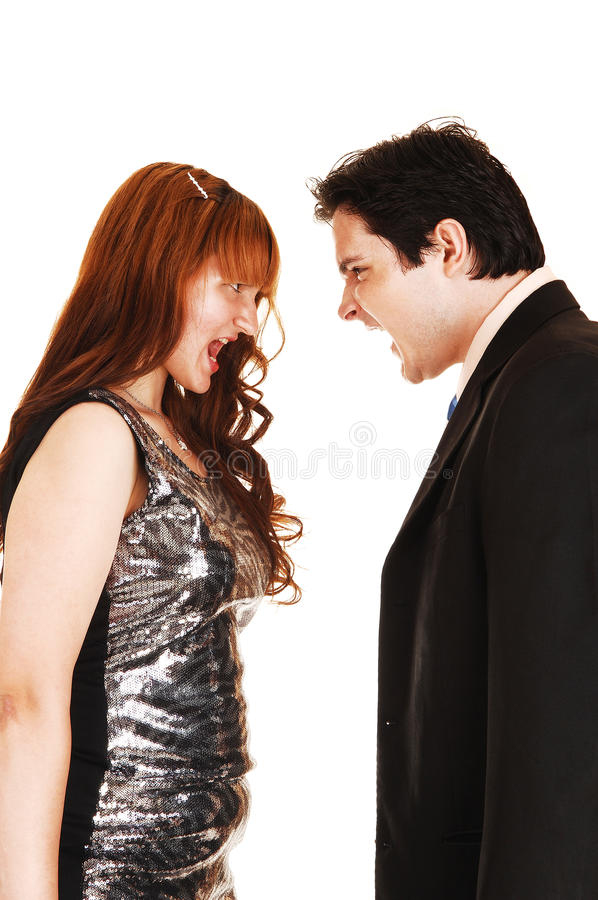 Download Couple Scream At Each Other. Stock Image - Image: 25665945