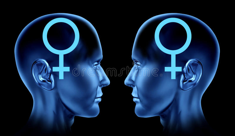 Couple sexual issues gay homosexual women lesbian royalty free illustration