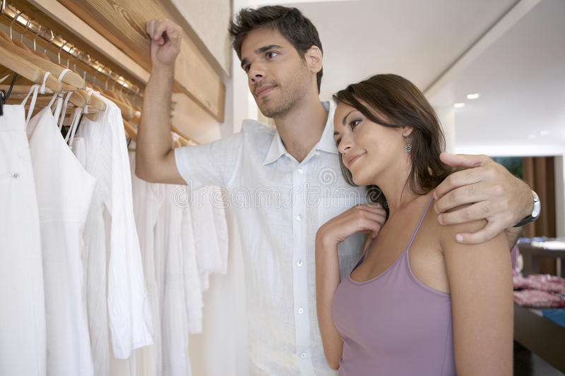 Couple in Shop stock images