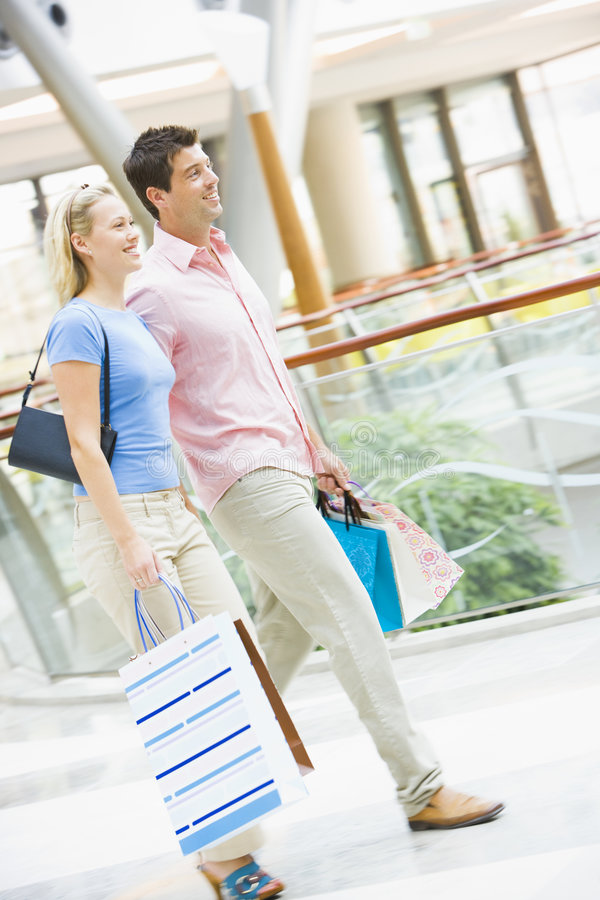 Download Couple shopping in mall stock photo. Image of attractive - 5092922