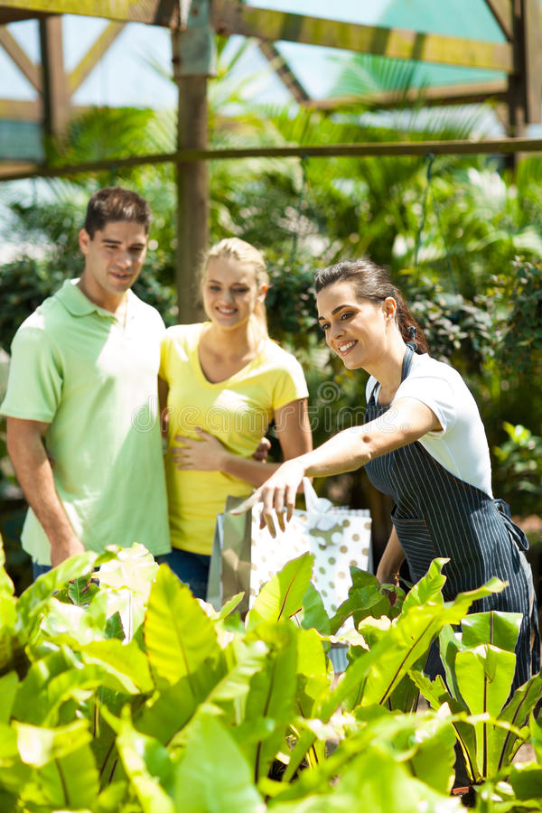 Download Couple shopping plants stock image. Image of price, choosing - 27065561