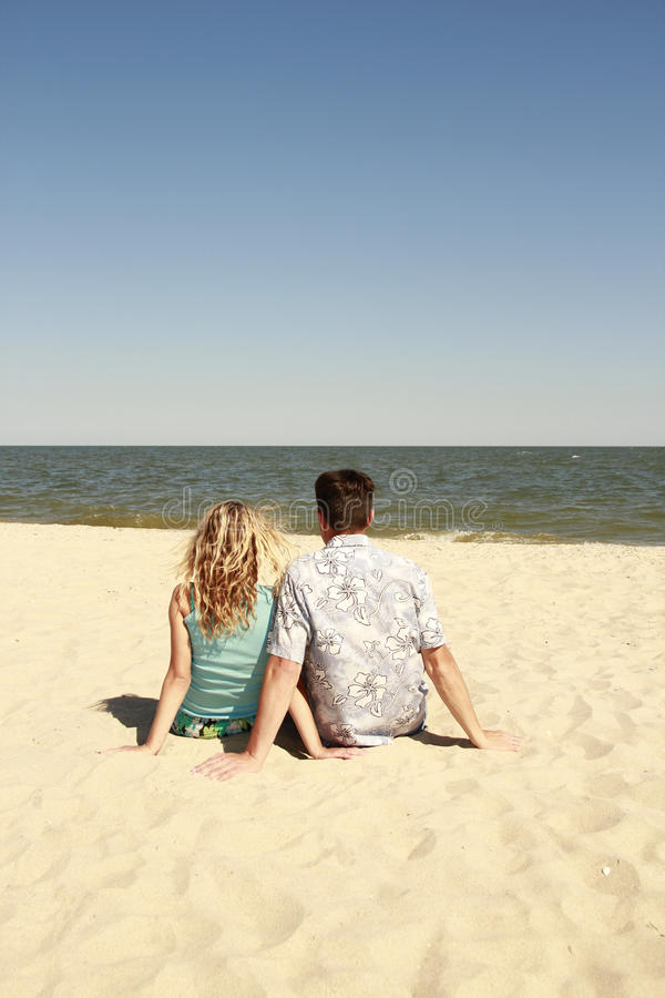 Download Couple  On The Shore Of The Sea Stock Image - Image: 32065967